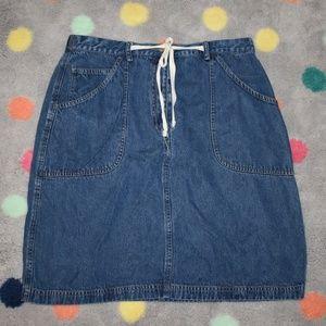 J. Jill Soft Denim  Skirt